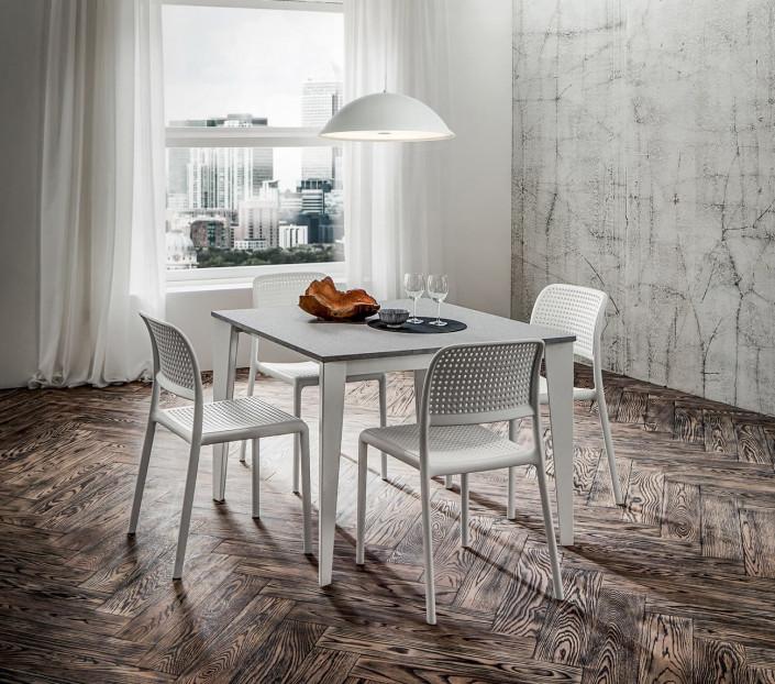 Tavolo quadrato 100x100 allungabile Carlo - MIT Design Store