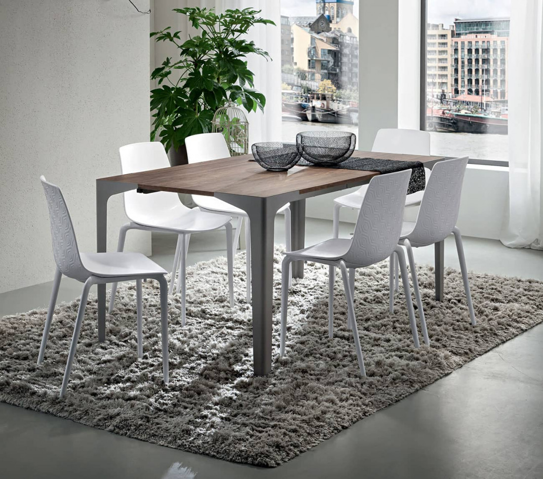 Tavolo soggiorno con gambe in metallo Ettore | MIT Design Store