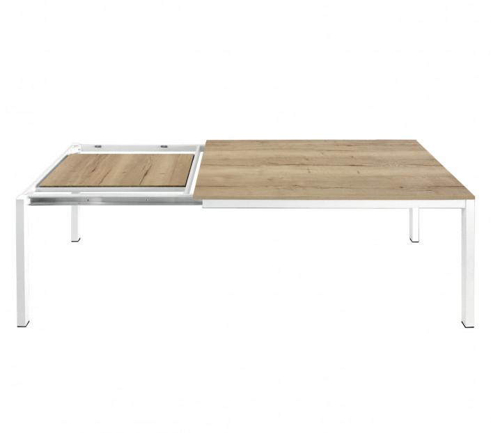 Meccanismo Tavolo Allungabile Legno.Tavolo Allungabile In Rovere Nodato Luca Mit Design Store
