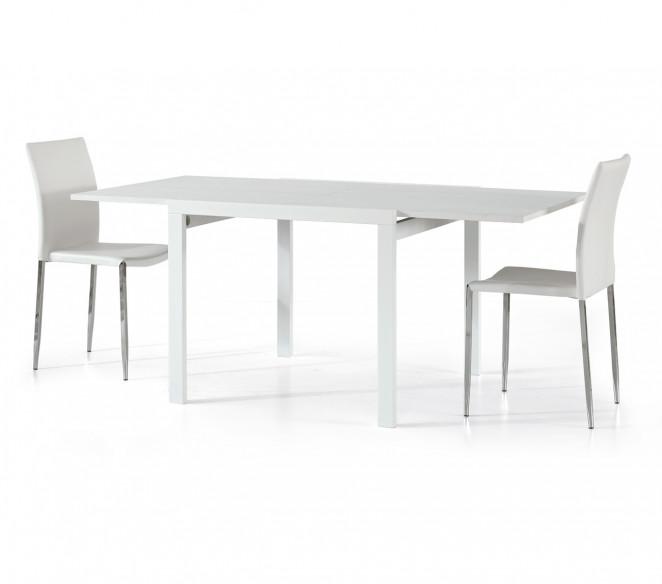 Tavolo allungabile quadrato Remo Bianco aperto