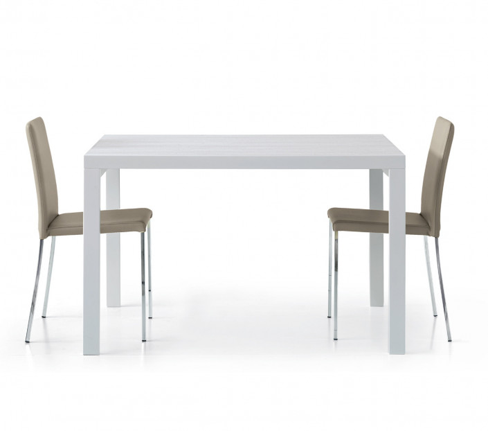 Tavolo 120x90 allungabile Alessio Bianco Frassinato - MIT Design Store