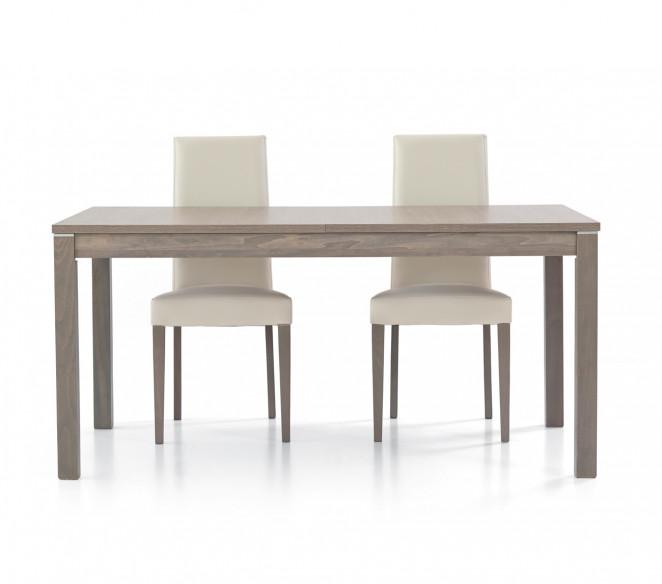 Tavolo in legno 160x90 allungabile in rovere grigio Matteo