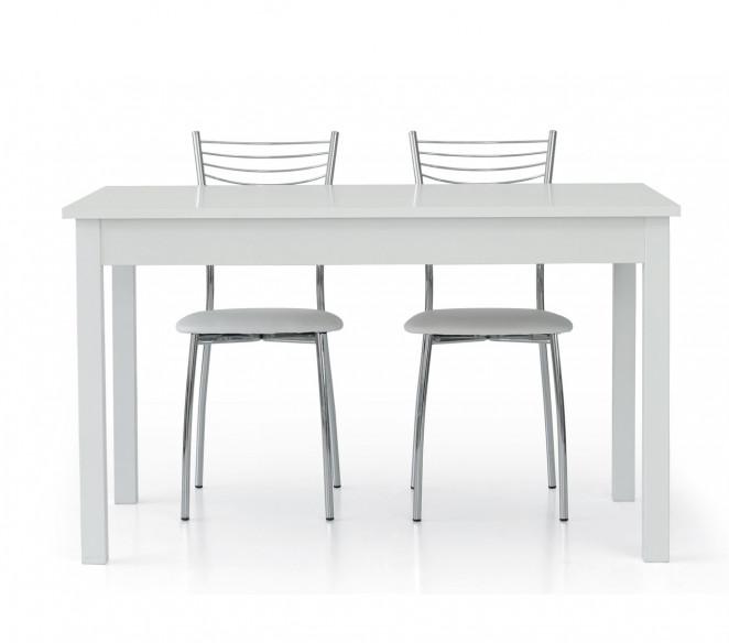 Tavolo 140x90 allungabile  bianco frassinato Riccardo