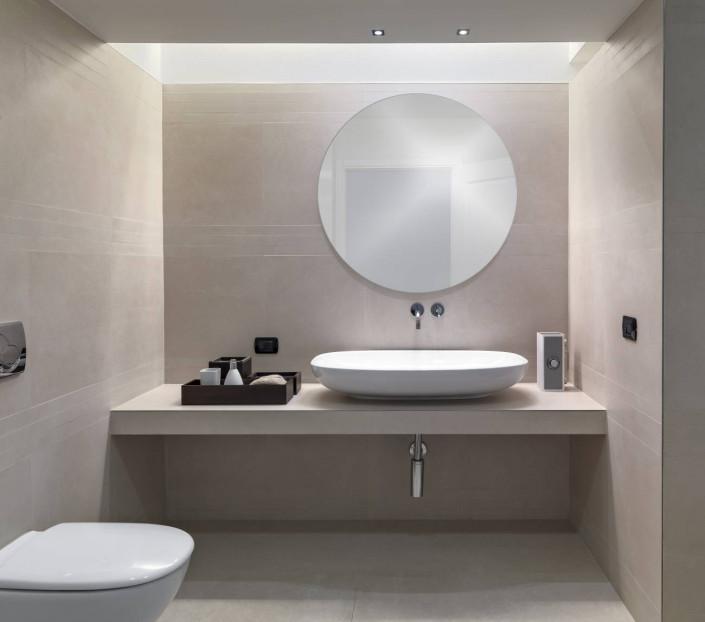 Specchio tondo da bagno su misura senza illuminazione MIT Design Store