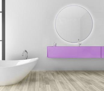 Specchio tondo da bagno su misura retroilluminato MIT Design Store