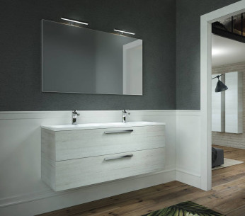 Composizione bagno sospesa con doppio lavabo Heka - MIT Design Store