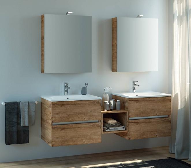 Composizione bagno con doppio lavabo Izar - MIT Design Store