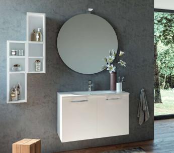 Composizione bagno moderno bianco Gemma - MIT Design Store