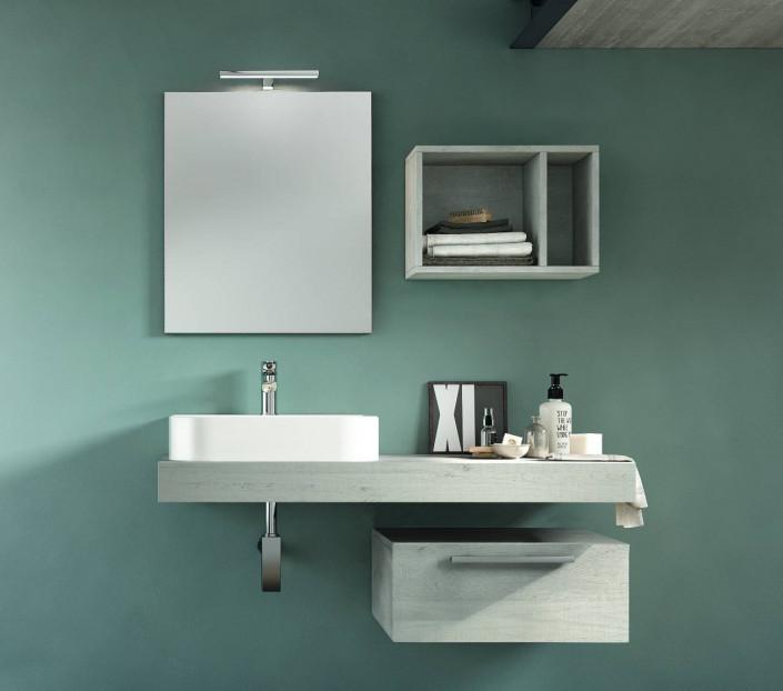 Composizione bagno con lavabo in appoggio Fenice - MIT Design Store