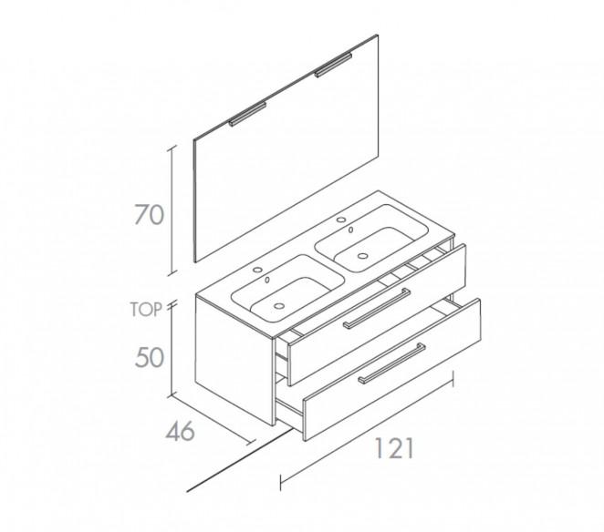 Disegno tecnico composizione Heka-MIT Design Store