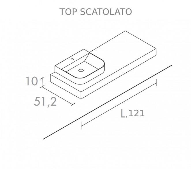 Disegno Tecnico Top scatolato per composizione Zosma