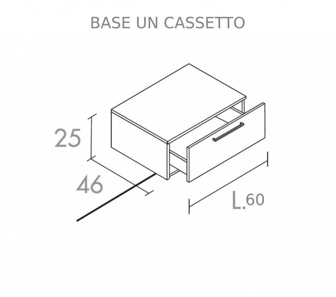 Disegno Tecnico Base un Cassetto per composizione Zosma