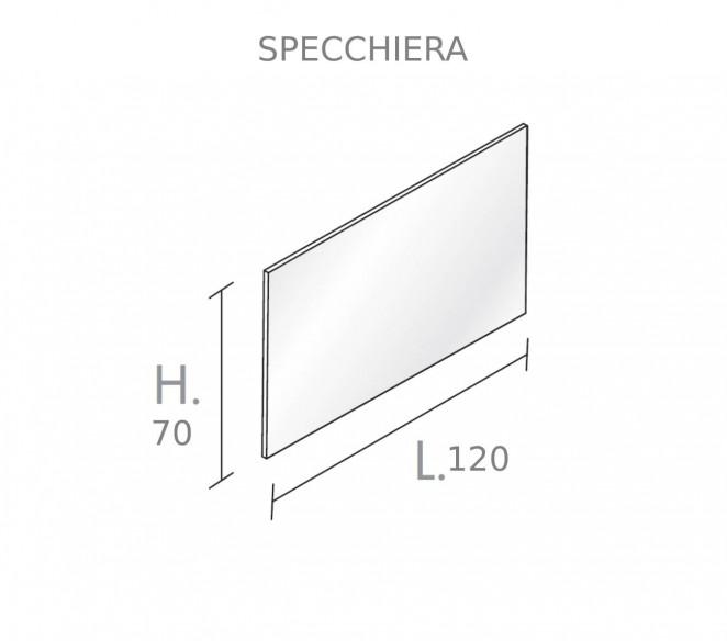 Disegno Tecnico Specchiera per composizione Zosma