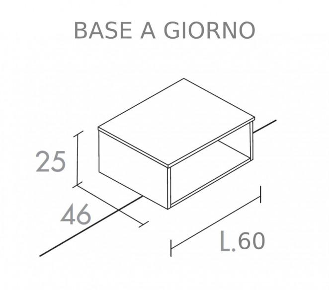 Disegno tecnico base a girono L60 composizione Elettra