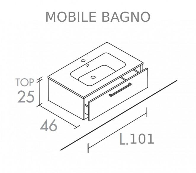 Mobile bagno un cassetto composizione Elettra - MIT Design Store