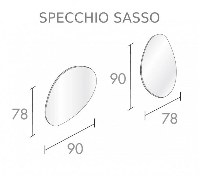 Disegno tecnico specchiera Sasso