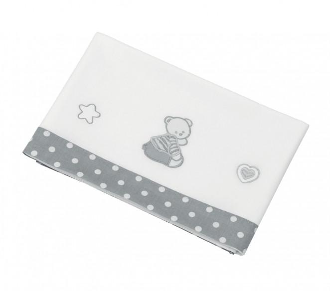 Corredo lettino neonato Cuor di Stelle Grigio - MIT Design Store