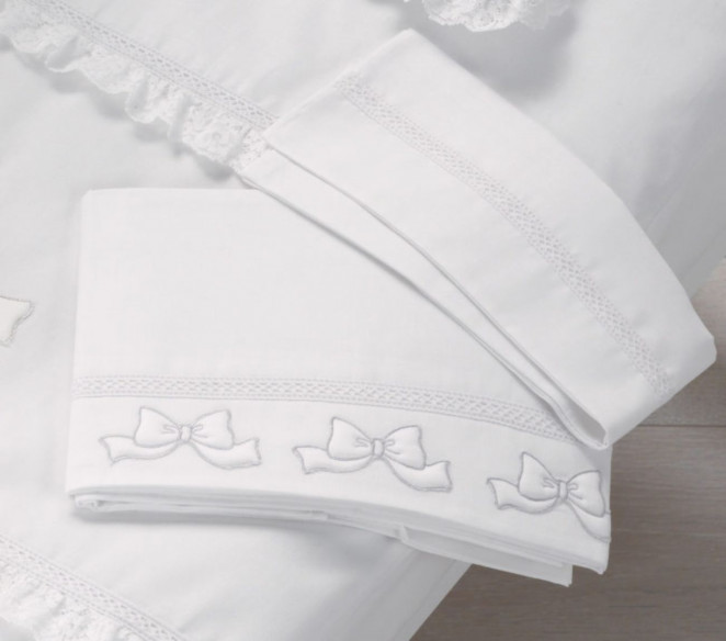 Lenzuolini neonato Elegant Argento - MIT Design Store