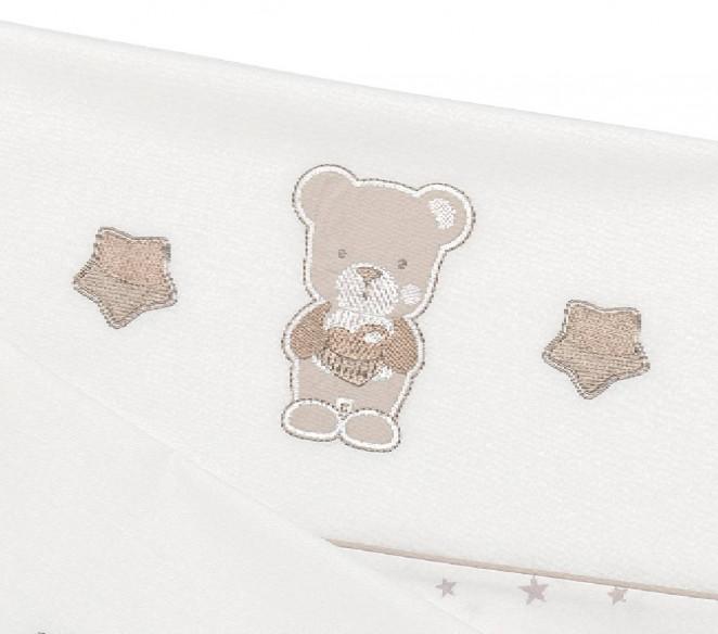 Particolare orsetto set lenzuolino Nice Avana - MIT Design Store