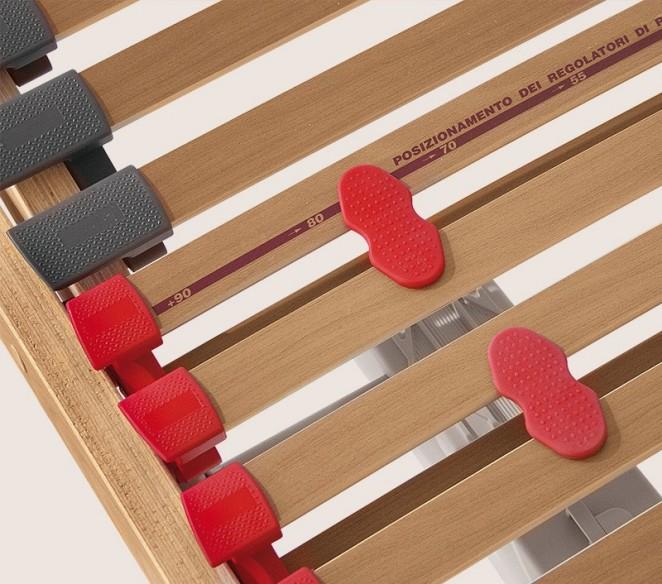 Particolarità regolatori di rigidità rete ortopedica Helios - MIT Design Store