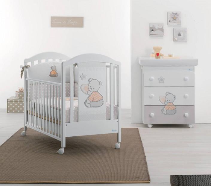 Cameretta neonati Cuore di Stelle Bianco-Color - MIT Design Store