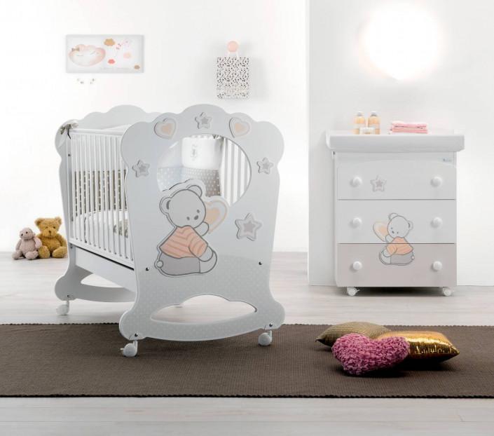 Set cameretta neonato bianco-color Cuore di Stelle Oblò - MIT Design Store