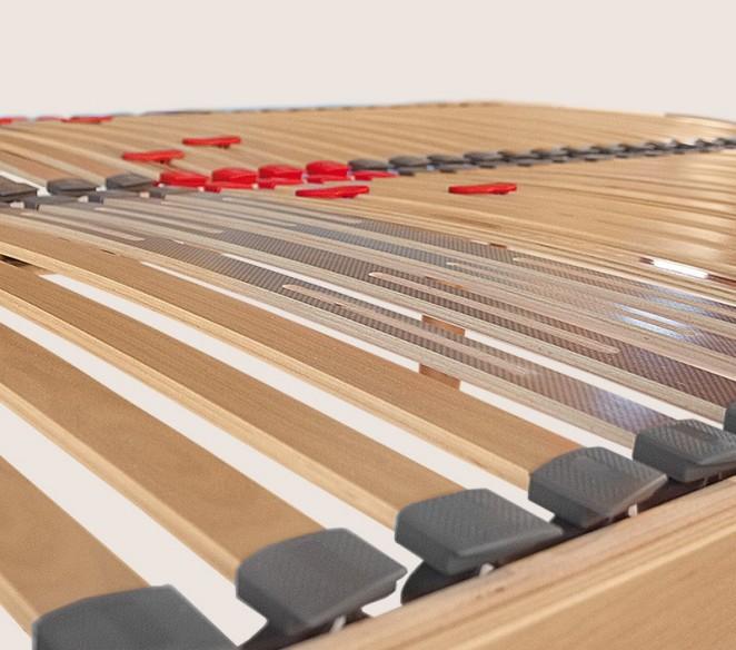 Particolarità doghe con ammortizzatori rete Helios - MIT Design Store