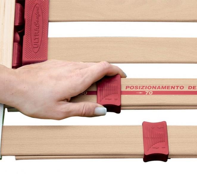 Particolarità regolatori di rigidità nella zona lombosacrale rete UltraComfort - MIT Design Store