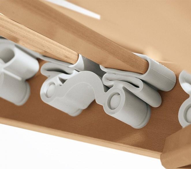 Particolare ammortizzatori rete a doghe UltraComfort - MIT Design Store