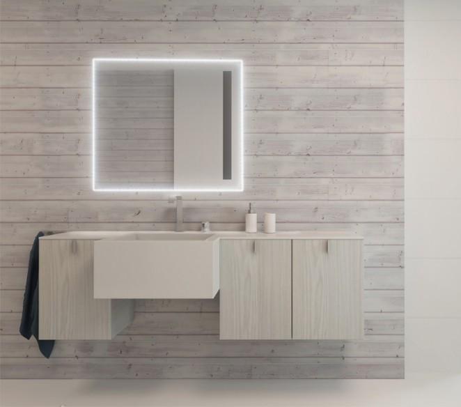 Specchio da bagno con luce a led Stella - MIT Design Store