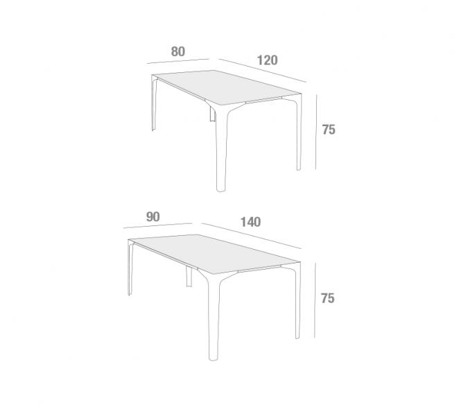 Disegno tecnico tavolo Ettore