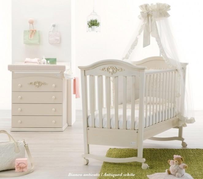 Lettino Pregio per neonato Bianco Antico - MIT Design Store