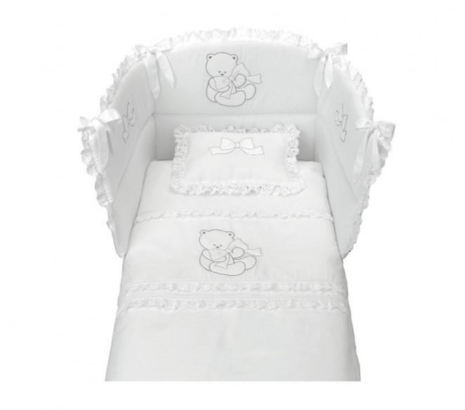 Particolare lettino Elegant Bianco-Argento - MIT Design Store