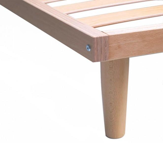 Particolare piede rete letto Ebano - MIT Design Store