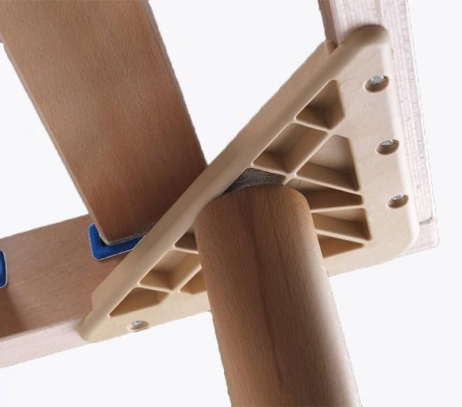 Particolare aggancio piede rete letto Ebano - MIT Design Store