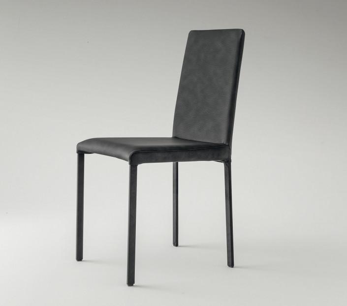 Set 2 sedie moderne ecopelle Poma
