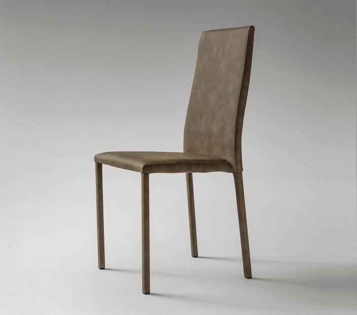 set 2 sedie moderne in ecopelle berna