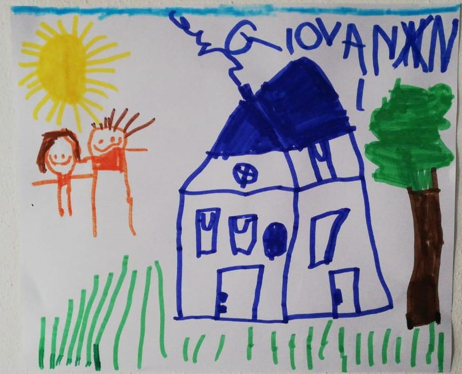 La casetta con la mia sorellina - Giovanni, 5 anni