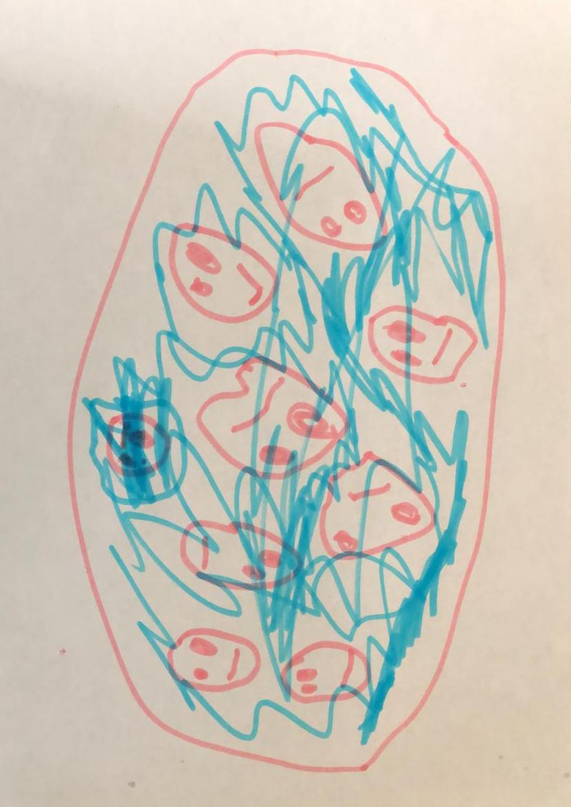 La mia cameretta è diventata una piscina dove faccio il bagno con tutti i miei amici - Jacopo, 4 anni