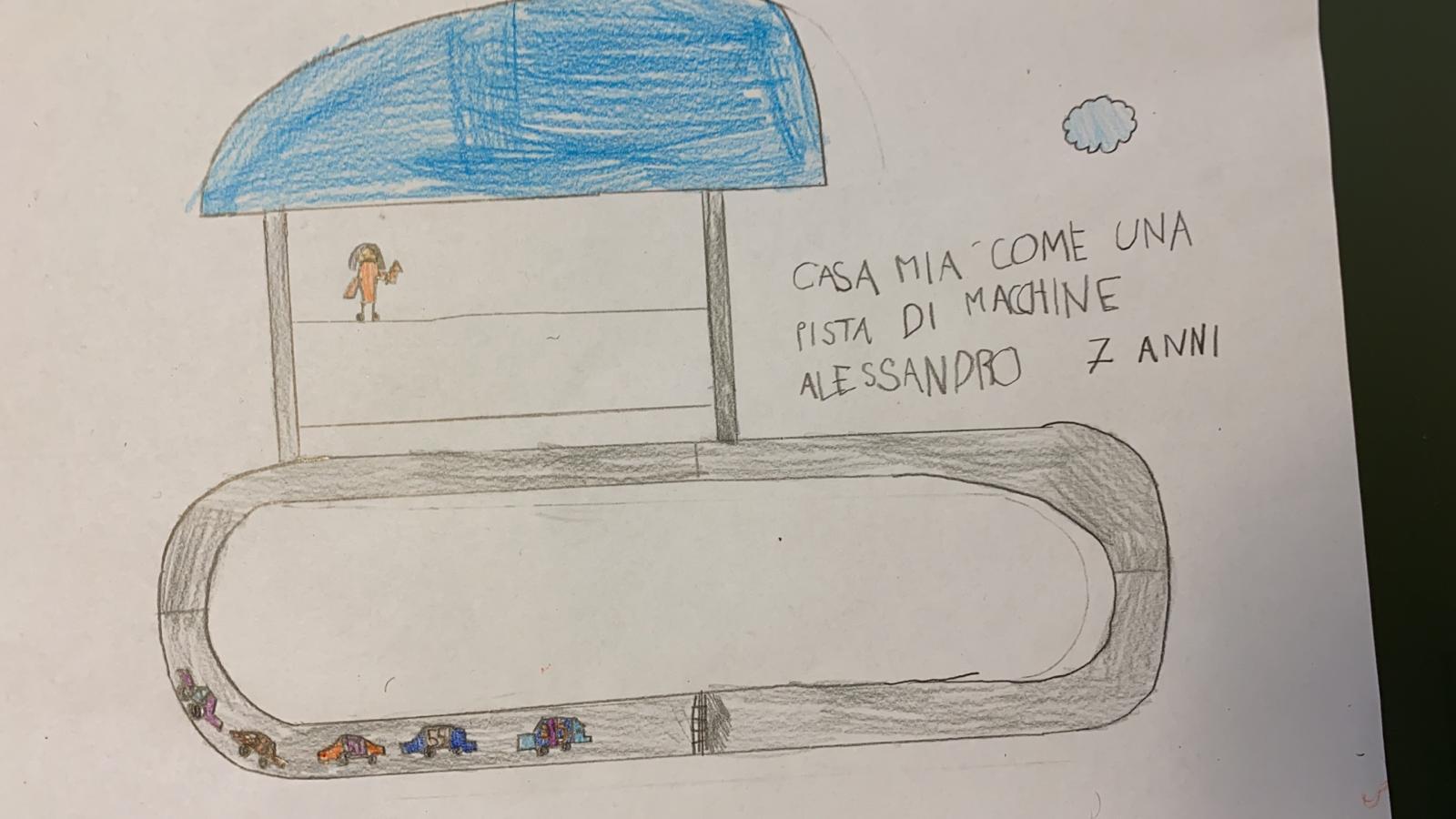 La mia casa è una pista di macchine - Alessandro - 7 anni