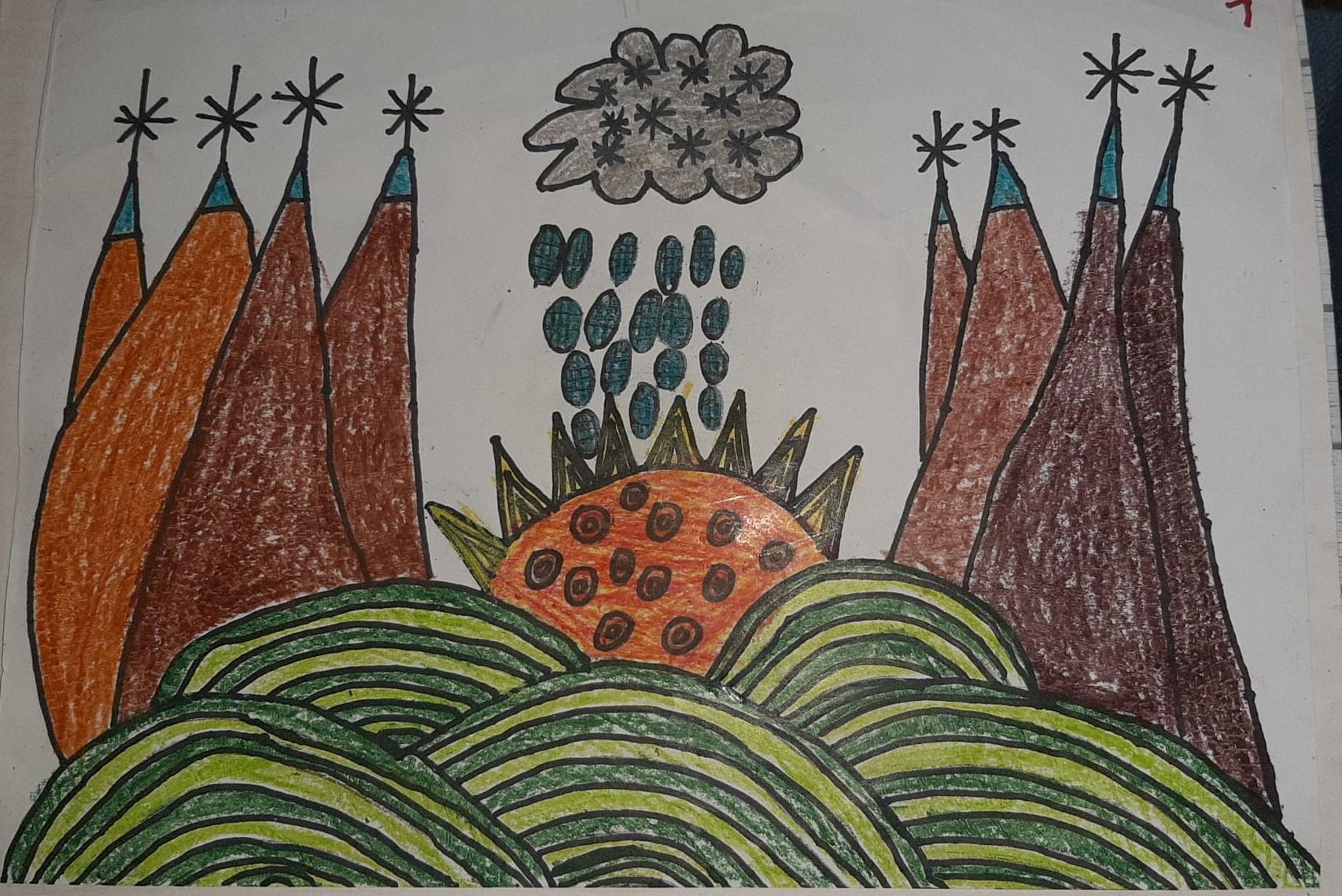 Le montagne viste dalla finestra - Tommaso - 8 Anni